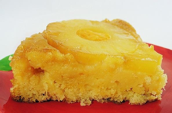 Gateau ananas et poudre d'amande