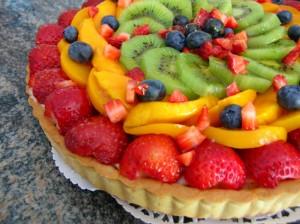 flan aux fruits