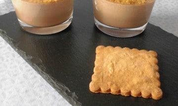 recette de panna cotta au praliné.